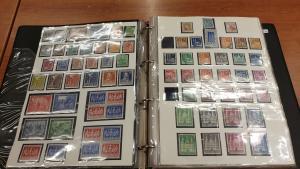 Westzone, Bundesrepublik ab 1951-1990 Sammlung in Plastikhüllen unter Hawid