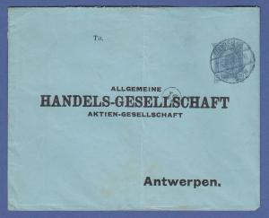 Österreich Ganzsache aus Wien gel. an HANDELS-GESELLSCHAFT Antwerpen, 1903