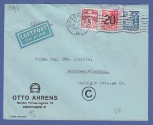 Dänemark, 1940 Lp-Brief aus Kopenhagen gel. nach Berlin, NS-Militärzensur.