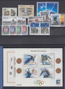 Norwegen Briefmarken-Jahrgang 1991 komplett postfrisch ** / MNH