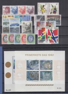 Norwegen Briefmarken-Jahrgang 1992 komplett postfrisch ** / MNH