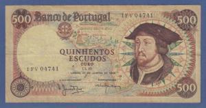 Banknote Portugal 500 Escudos D. Joao II. 1969