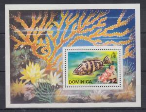 Dominica Mi.-Nr. Block 30 postfrisch ** / MNH Fisch