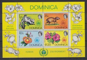Dominica Mi.-Nr. Block 13 postfrisch ** / MNH Stockholm Konferenz
