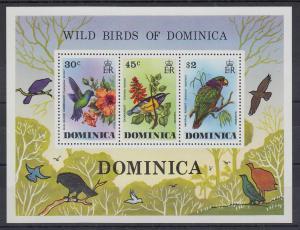 Dominica Mi.-Nr. Block 36 postfrisch ** / MNH Vögel von Dominica