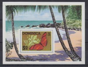 Dominica Mi.-Nr. Block 31 postfrisch ** / MNH Schmetterling