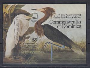 Dominica Mi.-Nr. Block 97 postfrisch ** / MNH John Audubon Anniversary