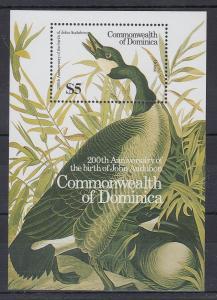 Dominica Mi.-Nr. Block 111 postfrisch ** / MNH John Audubon Anniversary Goose