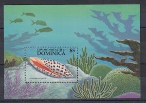 Dominica Mi.-Nr. Block 119 postfrisch ** / MNH Muschel