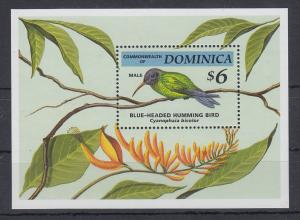 Dominica Mi.-Nr. Block 257 postfrisch ** / MNH Blauköpfiger Kolibri