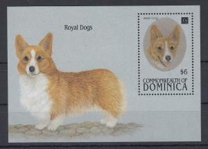 Dominica Mi.-Nr. Block 264 postfrisch ** / MNH Royal Dogs