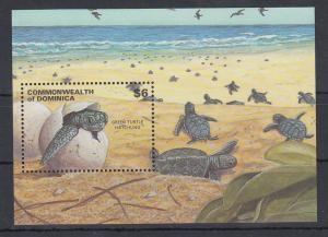 Dominica Mi.-Nr. Block ? postfrisch ** / MNH Schildkrötenschlüpfung