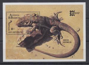 Antigua und Barbuda Mi.-Nr. Block 129 postfrisch ** / MNH Reptilien & Amphibien