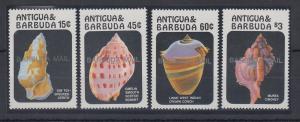 Antigua und Barbuda Mi.-Nr. Satz 902-05 postfrisch ** / MNH Muschel BARBUDA MAIL