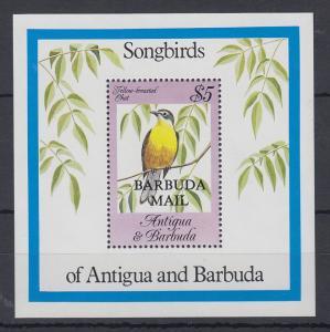 Antigua und Barbuda Mi.-Nr. Block 87 postfrisch ** / MNH Singvögel BARBUDA MAIL
