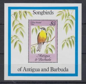 Antigua und Barbuda Mi.-Nr. Block 81 postfrisch ** / MNH Singvögel