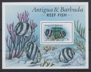 Antigua und Barbuda Mi.-Nr. Block 121 postfrisch ** / MNH Rifffisch BARBUDA MAIL