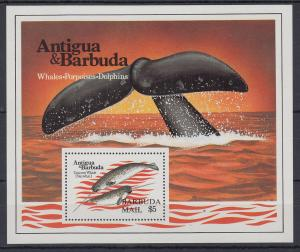 Antigua und Barbuda Mi.-Nr. Block 76 postfrisch ** / MNH Walflosse BARBUDA MAIL