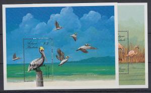 Antigua und Barbuda Mi.-Nr. Block 131-132 postfrisch ** / MNH Vögel BARBUDA MAIL