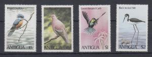 Antigua Mi.-Nr. Satz 592-595 postfrisch ** / MNH Vögel