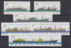 Polen / Polska 1961 Schiffbauindustrie Mi.-Nr. 1238-43 **
