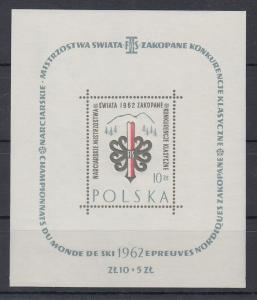 Polen / Polska 1962 Nordische Skiweltmeisterschaften Mi.-Nr. Block 26 **