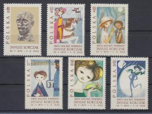 Polen / Polska 1962 20. Todestag Janusz Korczak Mi.-Nr. 1357-62 **