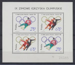 Polen / Polska 1964 Olympische Winterspiele, Innsbruck Mi.-Nr. Block 32 **