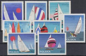 Polen / Polska 1965 Segel-Weltmeisterschaften Finn-Dingi Mi.-Nr. 1587-94 **