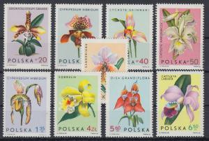 Polen / Polska 1965 Orchideen Mi.-Nr. 1612-20 **