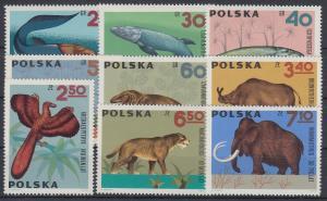 Polen / Polska 1966 Dinosaurier Mi.-Nr. 1655-63 **