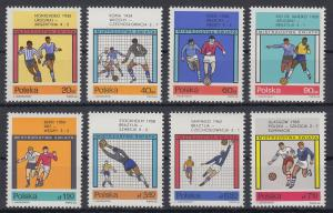 Polen / Polska 1966 Fußballweltmeisterschaft, London Mi.-Nr. 1665-72 **
