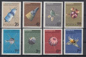 Polen / Polska 1966 Weltraumforschung (II) Mi.-Nr. 1730-37 **