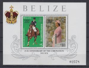 Belize 1979 Queen Elizabeth 25th anniversary of the coronation Mi-Nr. Block 6 **