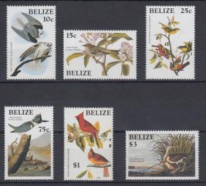 Belize 1985 Vögel Mi.-Nr. 784 - 789 **