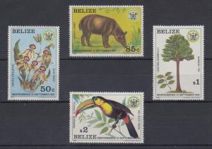Belize 1981 Unabhängigkeit Mi.-Nr. 610 - 613 **