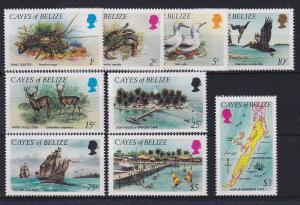 Cayes of Belize 1973 Freimarken Mi.-Nr. 1-9 Satz kpl. **