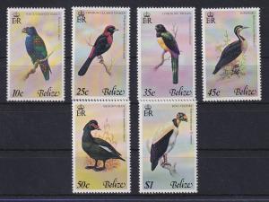 Belize 1978 Vögel Mi.-Nr. 384-389 Satz 6 Werte kpl. **