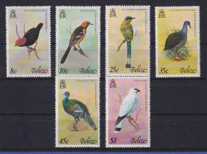 Belize 1977 Vögel Mi.-Nr. 371-376 Satz 6 Werte kpl. **