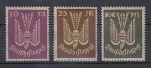 Deutsches Reich 1923 Flugpostmarken Holztaube Mi.-Nr. 235-37 **