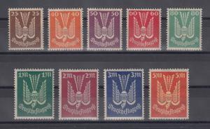 Deutsches Reich 1922 Flugpostmarken Holztaube Mi.-Nr. 210-218 **