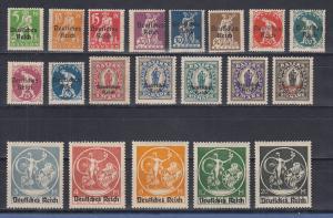 Deutsches Reich 1920 Bayern-Abschied mit Aufdruck Mi.-Nr. 119-138 Satz kpl. **