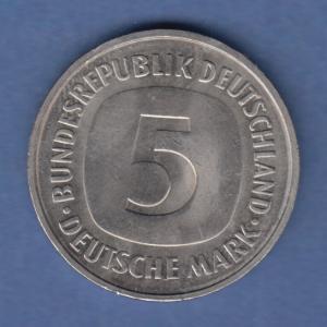 Deutschland Kursmünze 5 DM 1976 D  vorzüglich