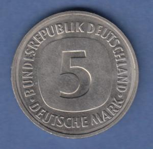 Deutschland Kursmünze 5 DM 1981 D  vorzüglich