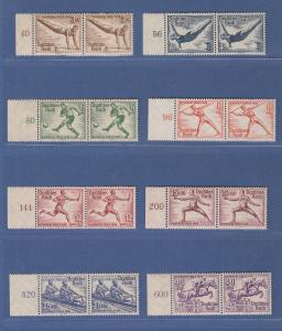 Deutsches Reich 1936 Olympische Spiele Mi.-Nr. 609-16 kpl. Satz ** waag. Paare