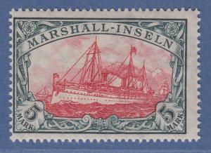 Deutsche Kolonien Marshall-Inseln 5 Mark mit Wz. Mi.-Nr. 27 A I postfrisch **