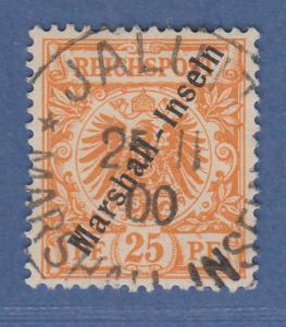 Deutsche Kolonien Marshall-Inseln 25 Pfennig Mi.-Nr. 11b gestempelt Typ 2