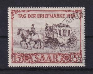 Saar 1950 Briefm.-Ausstellung IBASA Postkutsche  Mi.-Nr. 291 gestempelt