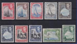 Bermuda 1938 Freimarken Mi.-Nr. 101-110 Satz kpl. ungebraucht * / MLH