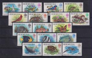 Bermuda 1978 Freimarken Fische Mi.-Nr. 352-368 Satz kpl. ** / MNH